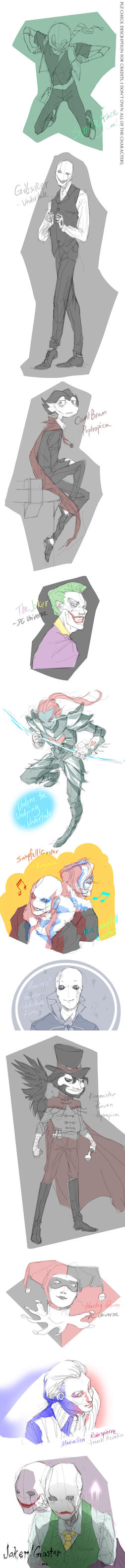Sketchdump-a mash up of fandoms by SmileyFaceOrg