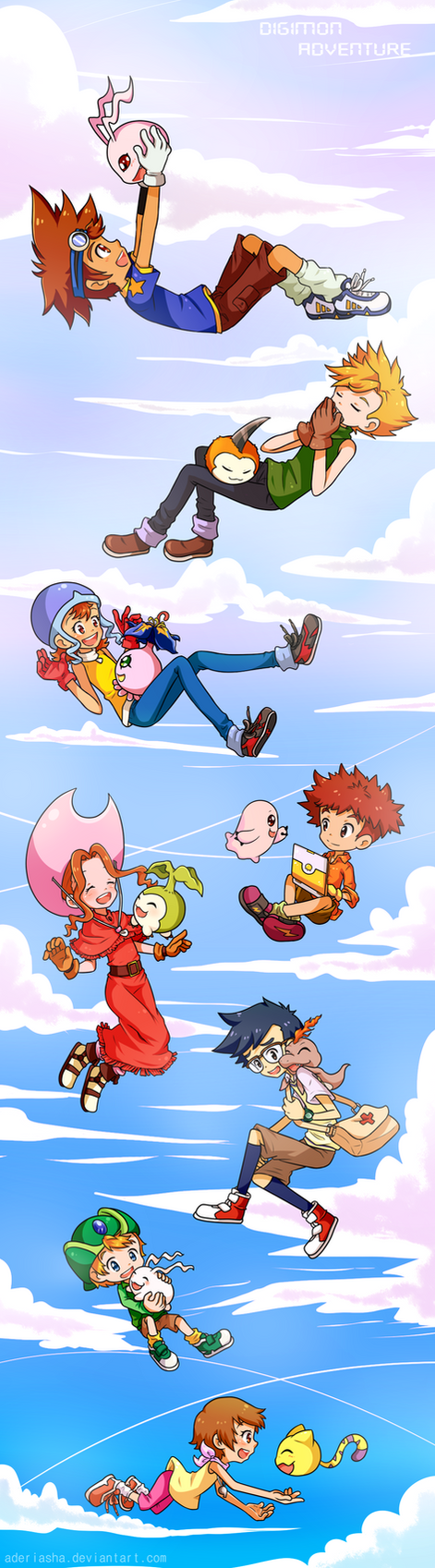 Digimon 15th Anniversary by AderiAsha