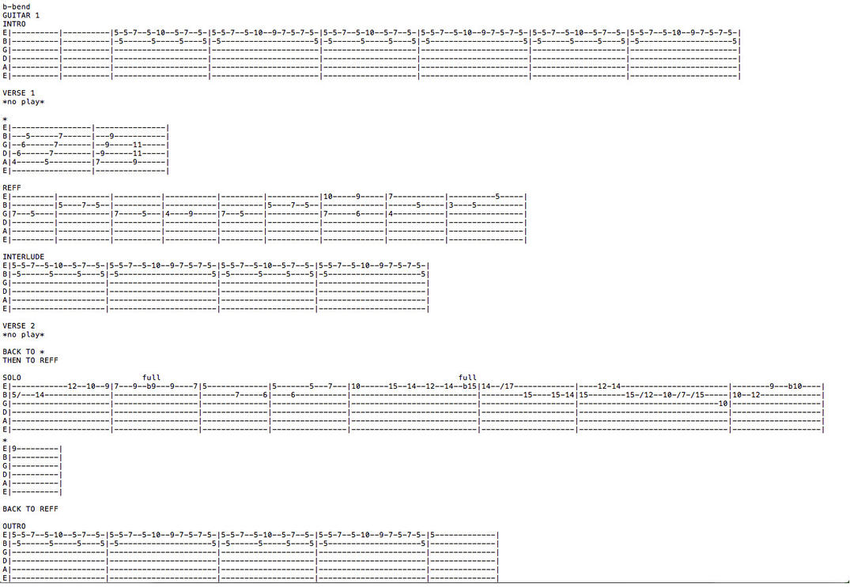 Sekai wa Okujo de Miwataseta (GUITAR 1/LEAD TAB) by guitarstoanime