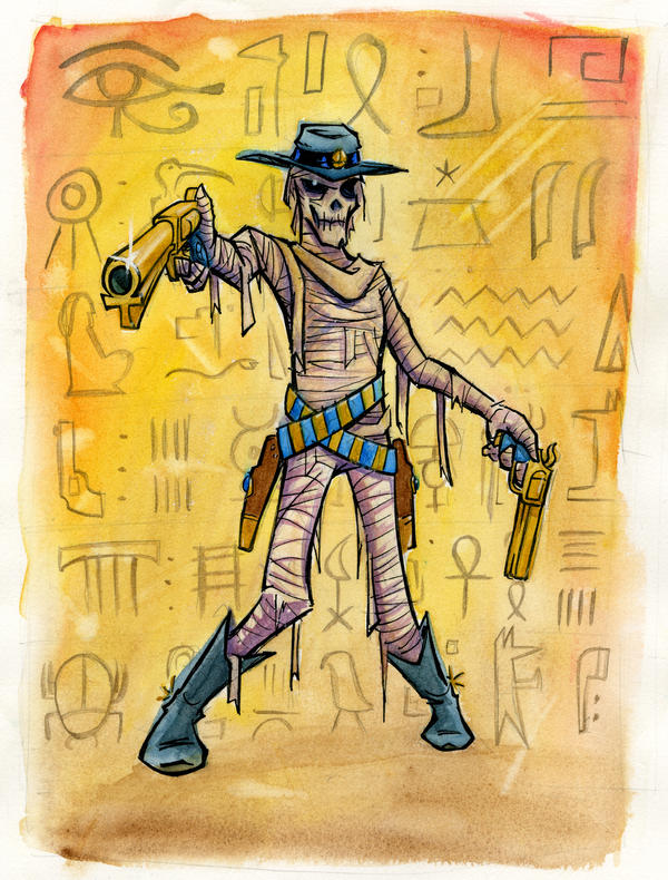 Six-gun Tut by Phostex