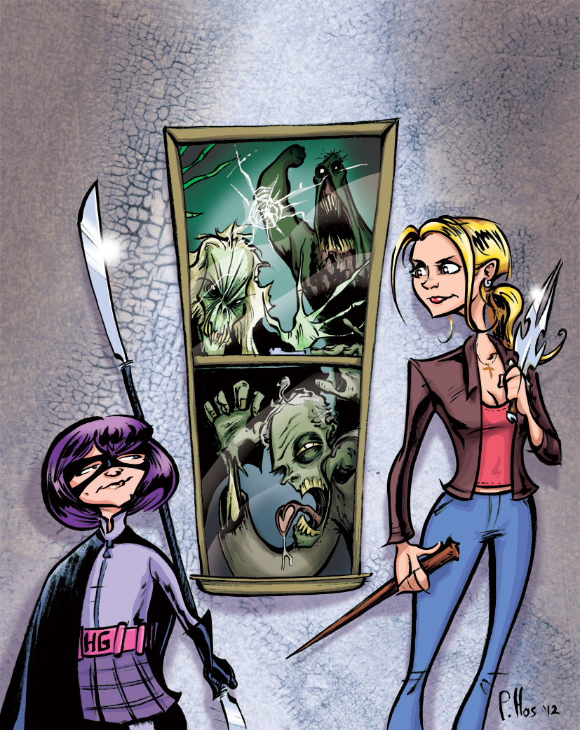 Hitgirl and Vampire Slayer by Phostex