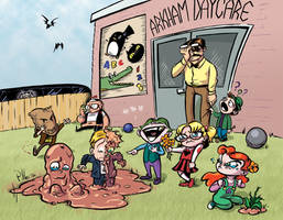 Arkham Daycare For The Criminally Insane by Phostex