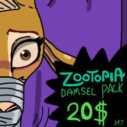 Zootopia damsel pack  by tenorjoane