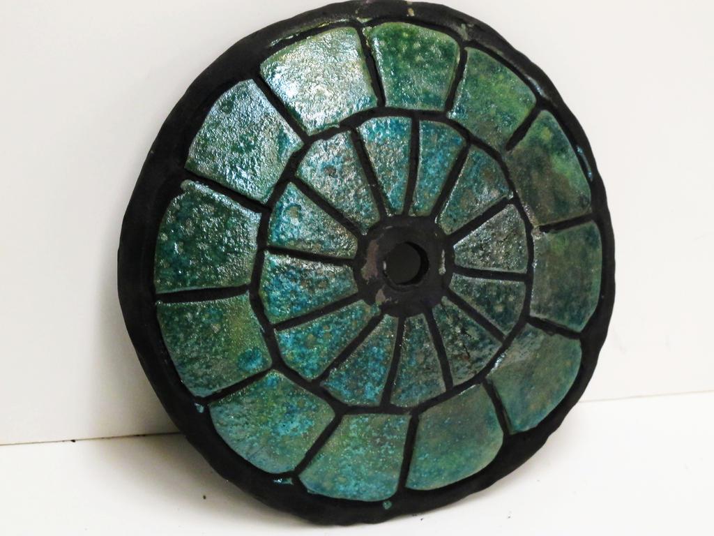 Raku Turtle Shell  clockbase