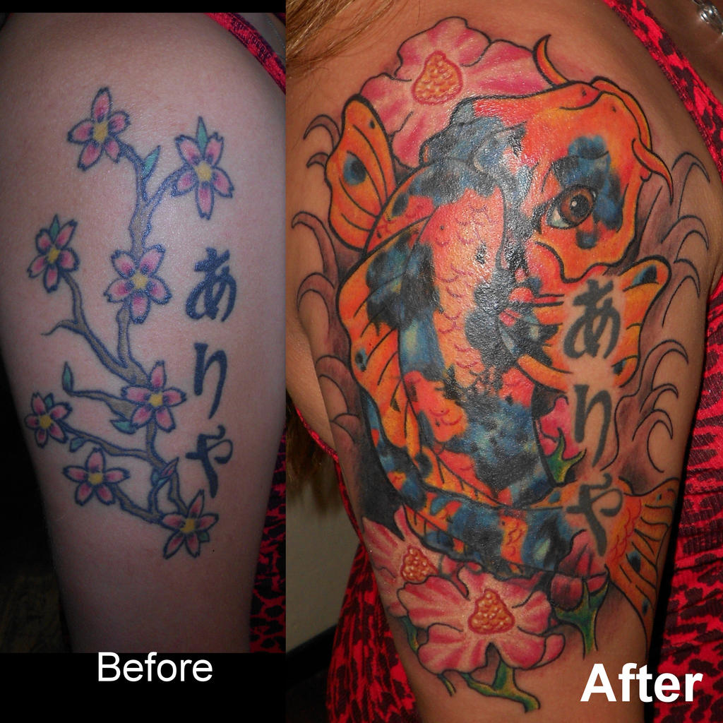 Koi Fish cover-up by Enkayia