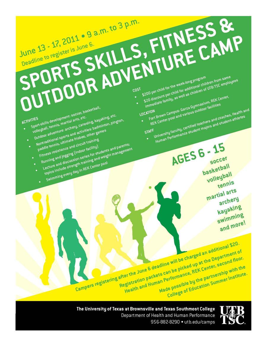 UTB/TSC Outdoor Adventure Camp flyer by lluviamaya on DeviantArt