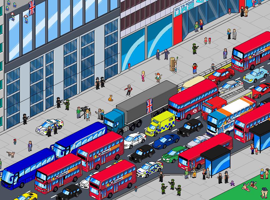 Pixel Art Street London by Luckymarine577