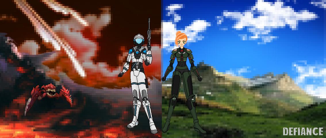 Defiance Fan Art (Pixel Art) by Luckymarine577