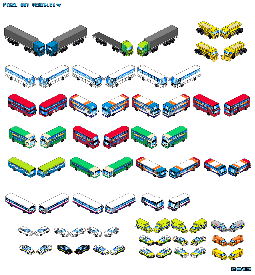 UK vehicles 4 Pixel Art by Luckymarine577