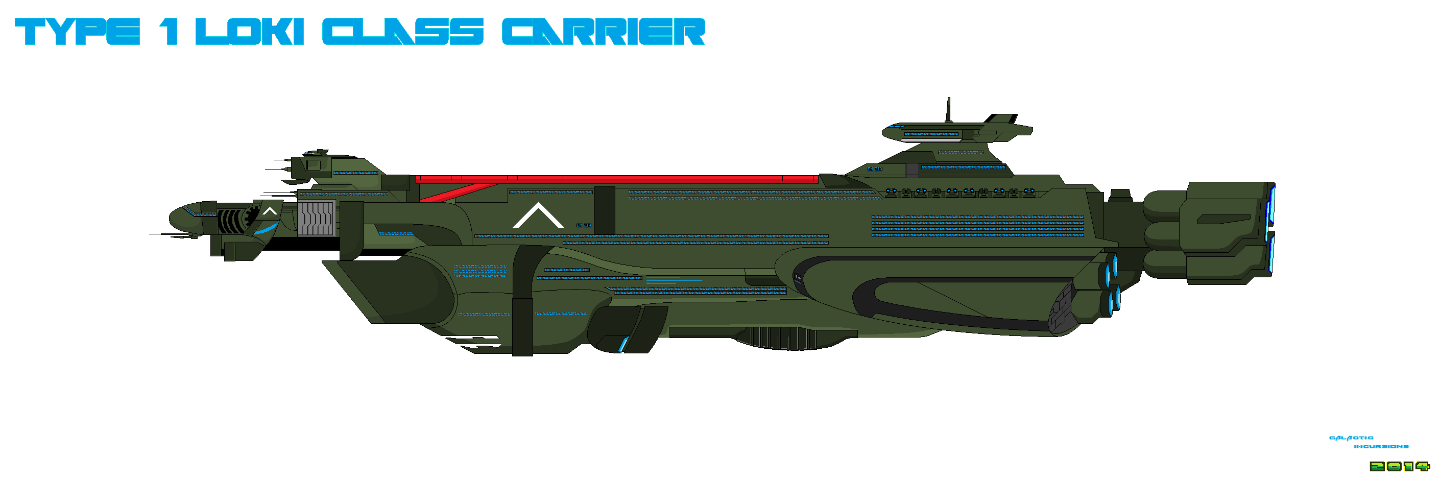 Spaceship Concept Carrier Type 1 by Luckymarine577
