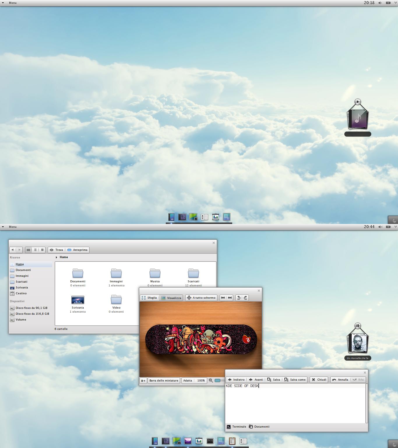 KDE side of desk by iacoporosso