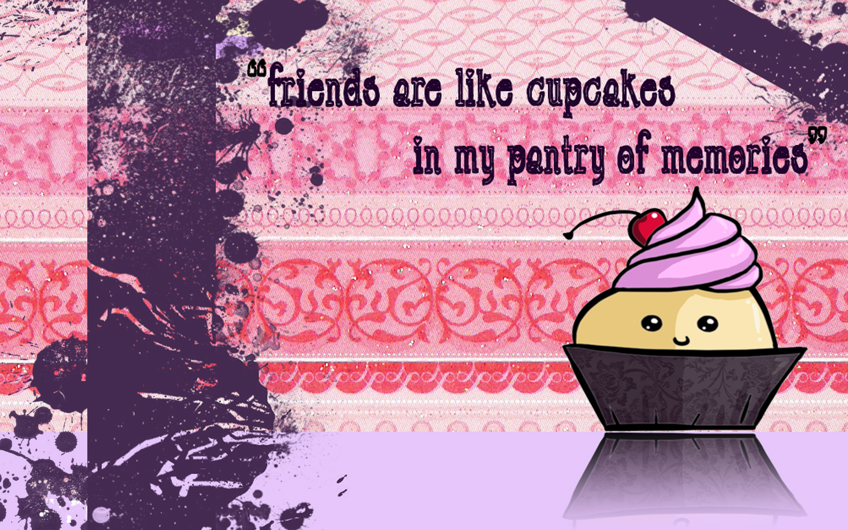 Cute Cartoon Cupcake Desktop Backgrounds