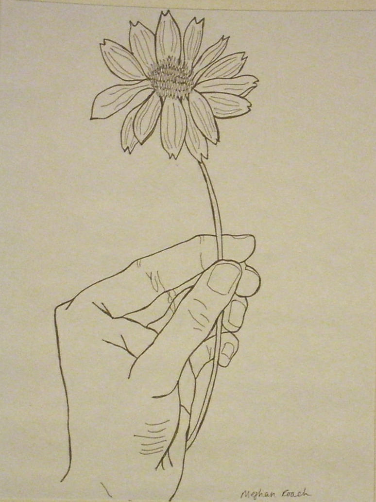 hand holding flower by dodosconundrum on deviantart