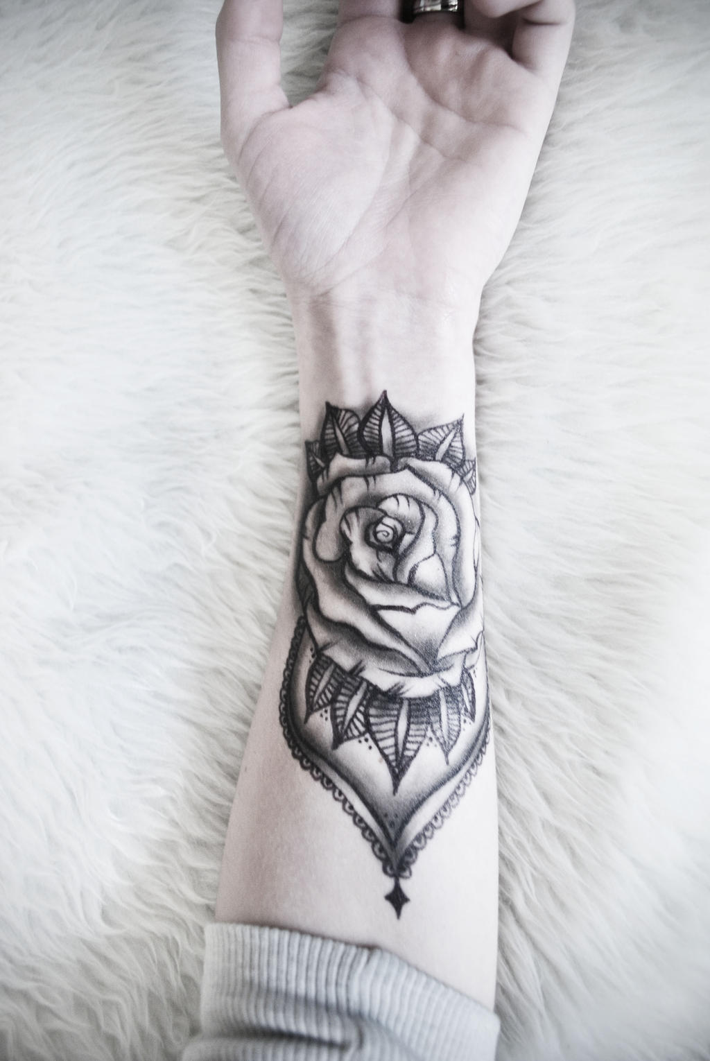 rose fake tattoo by symbolicart95 on deviantart