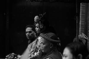 Kumari, the living virgin goddess. by SpellboundMisfits