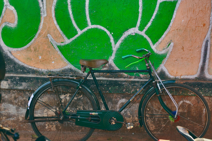project bicycle on the wall by SpellboundMisfits