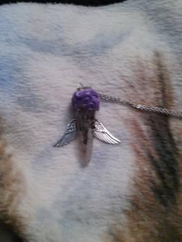 Sword crystal necklace