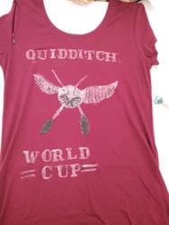Handmade harry potter  quidditch shirt