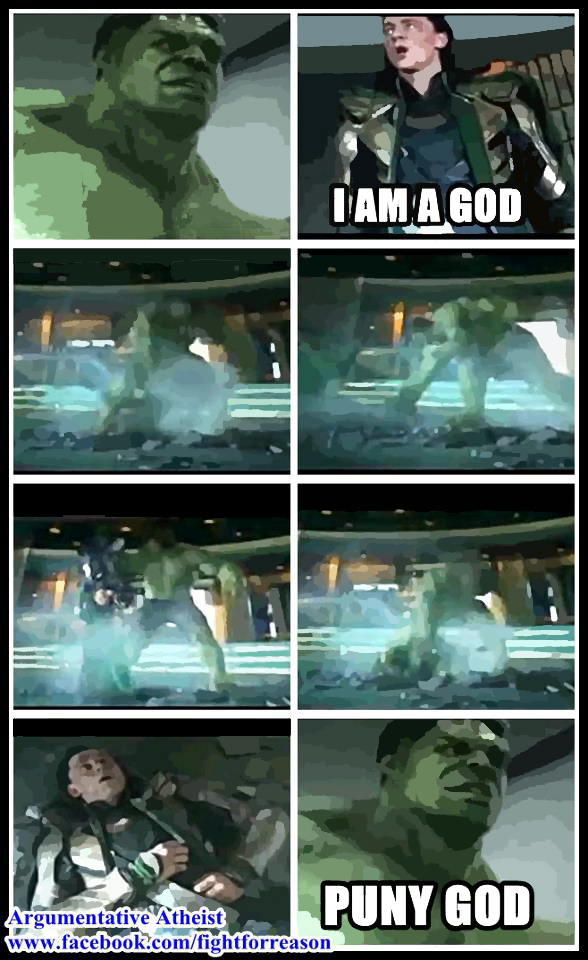 Hulk Vs God by AAtheist