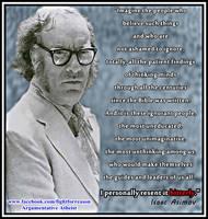 Isaac Asimov by AAtheist