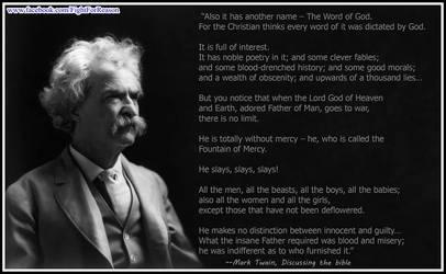 The ever indisputable Mark Twain