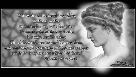 Hypatia of Alexandria. by AAtheist