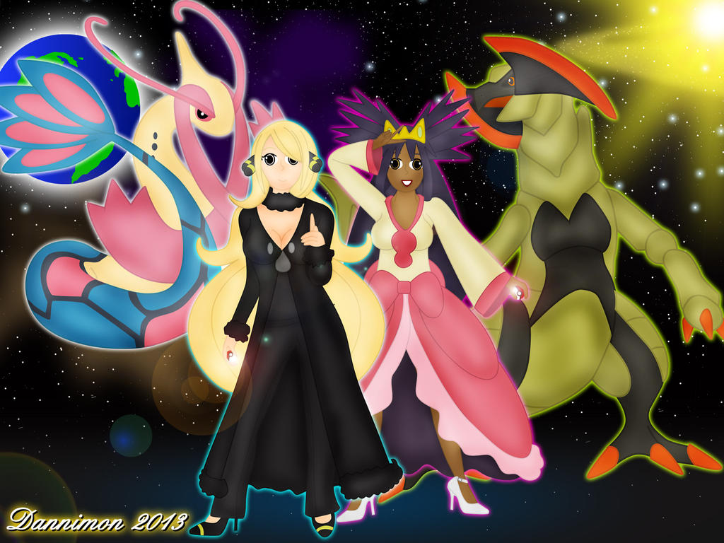 Pokemon Champions, Cynthia and Iris by DannimonDesigns on ...