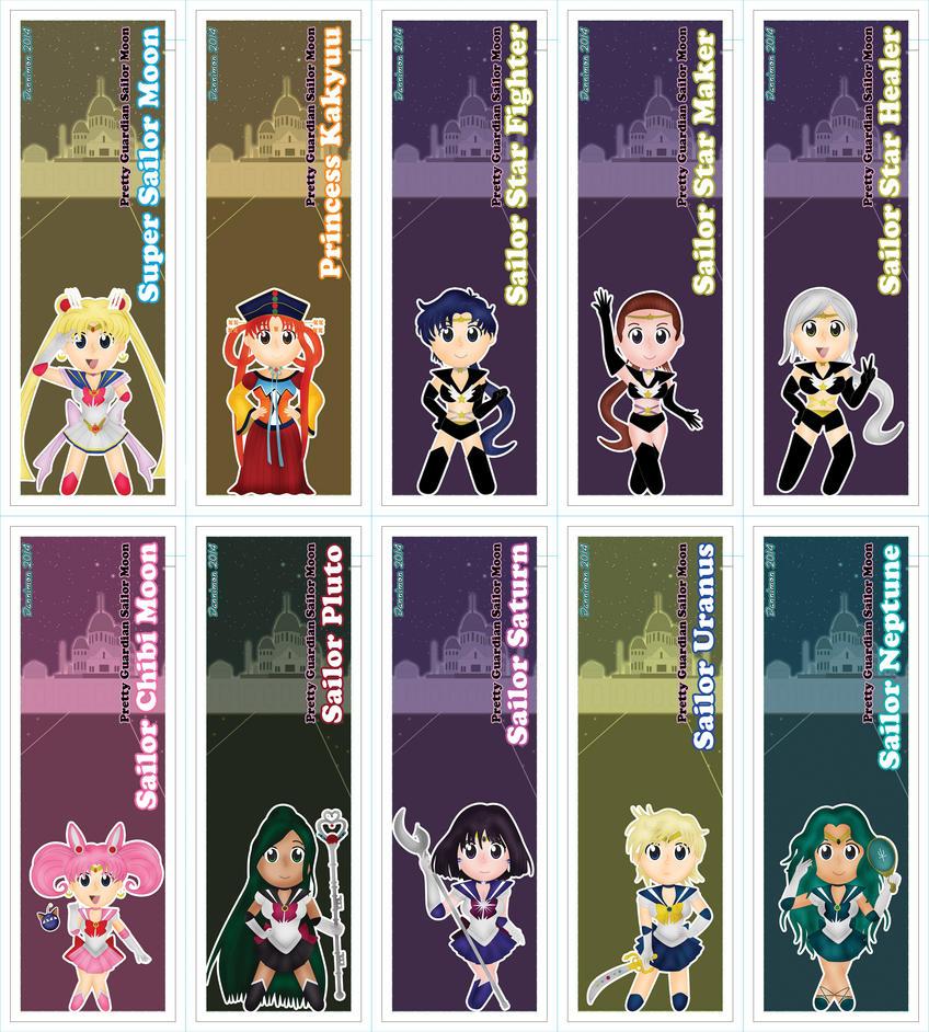 Chibi Sailor Moon Scout Bookmarks Pt. 2 by DannimonDesigns