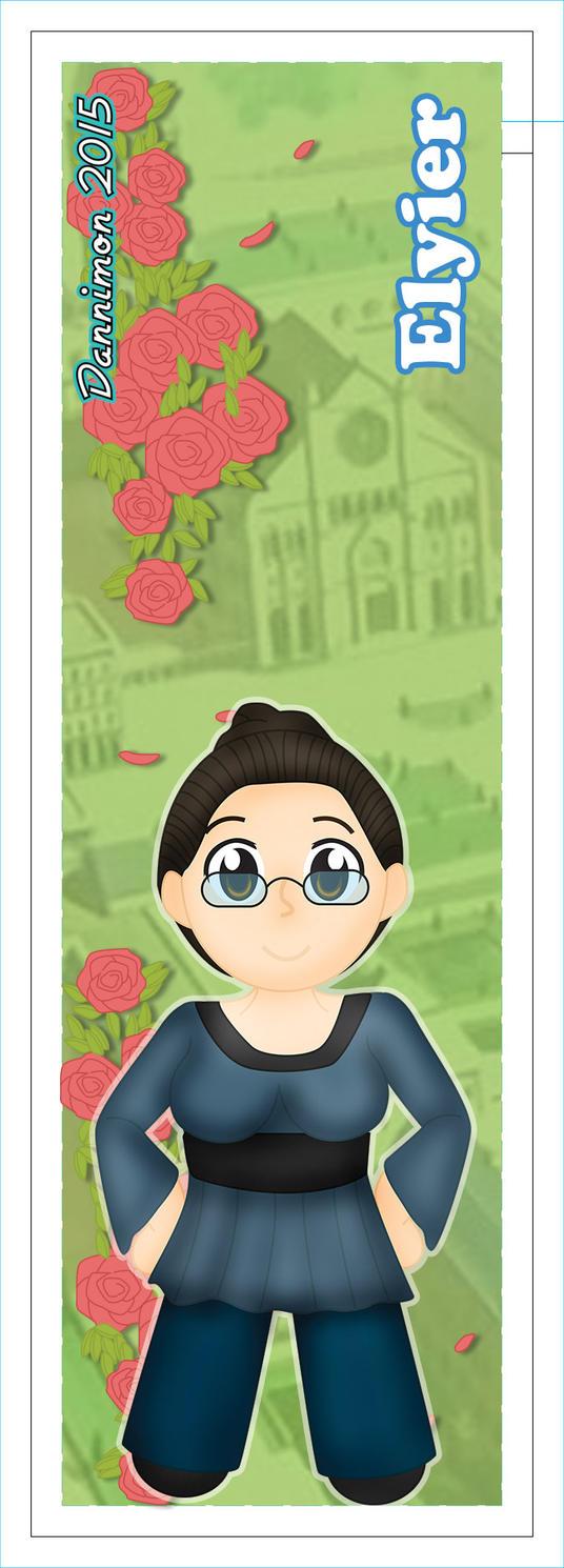 Elyier Chibi Bookmark by DannimonDesigns