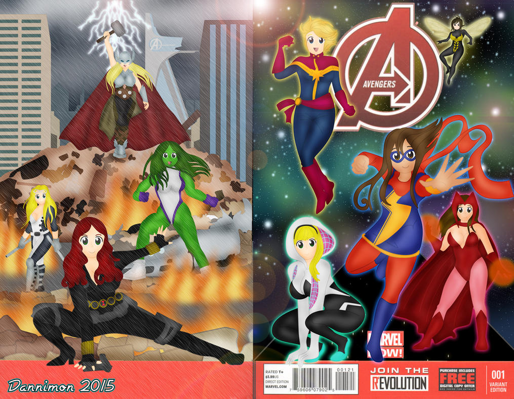 Female Avengers: ASSEMBLE by DannimonDesigns