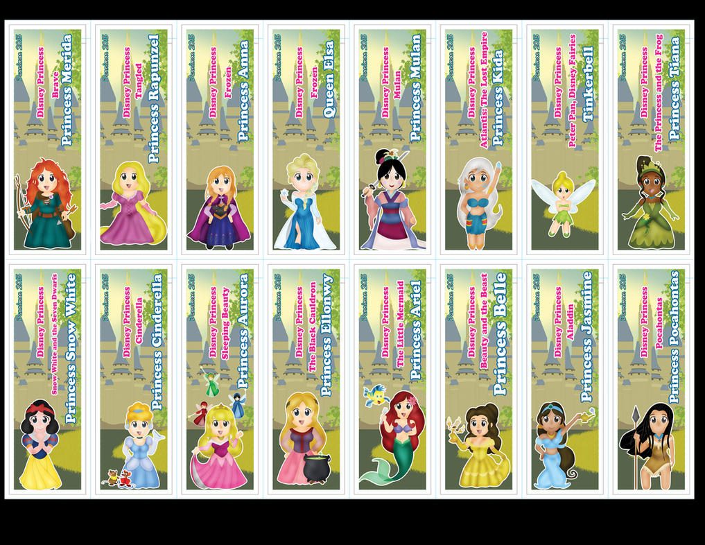 Chibi Disney Princess Bookmarks By DannimonDesigns On DeviantArt