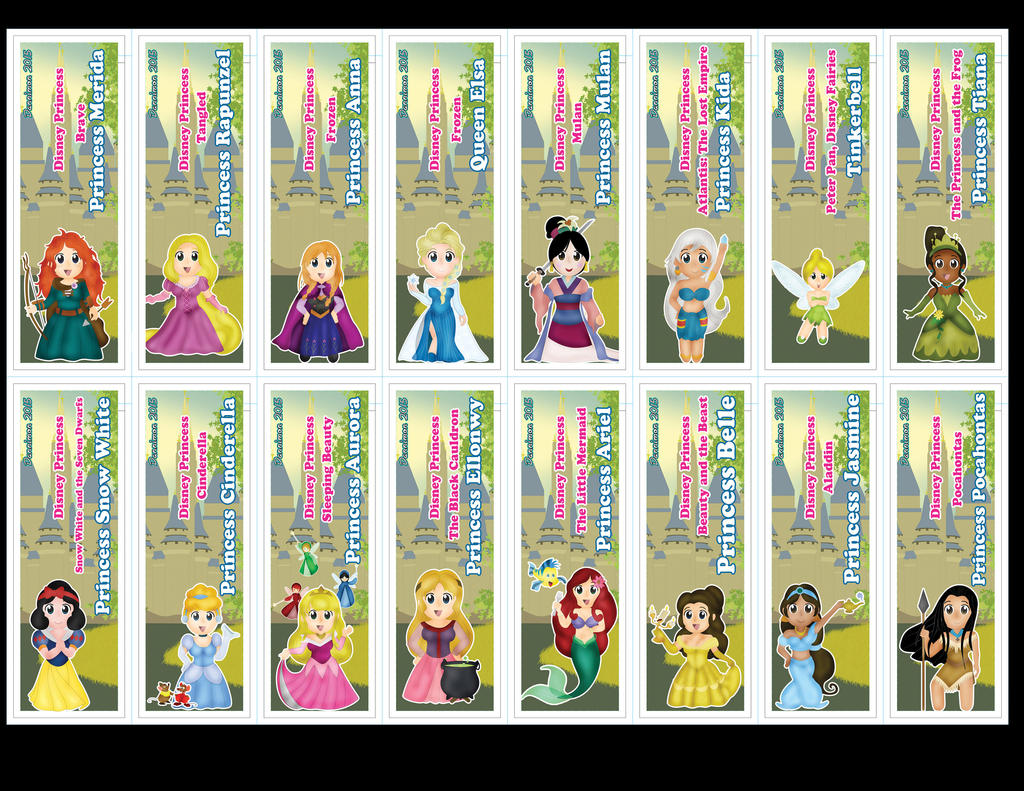 Chibi Disney Princess Bookmarks by DannimonDesigns on DeviantArt