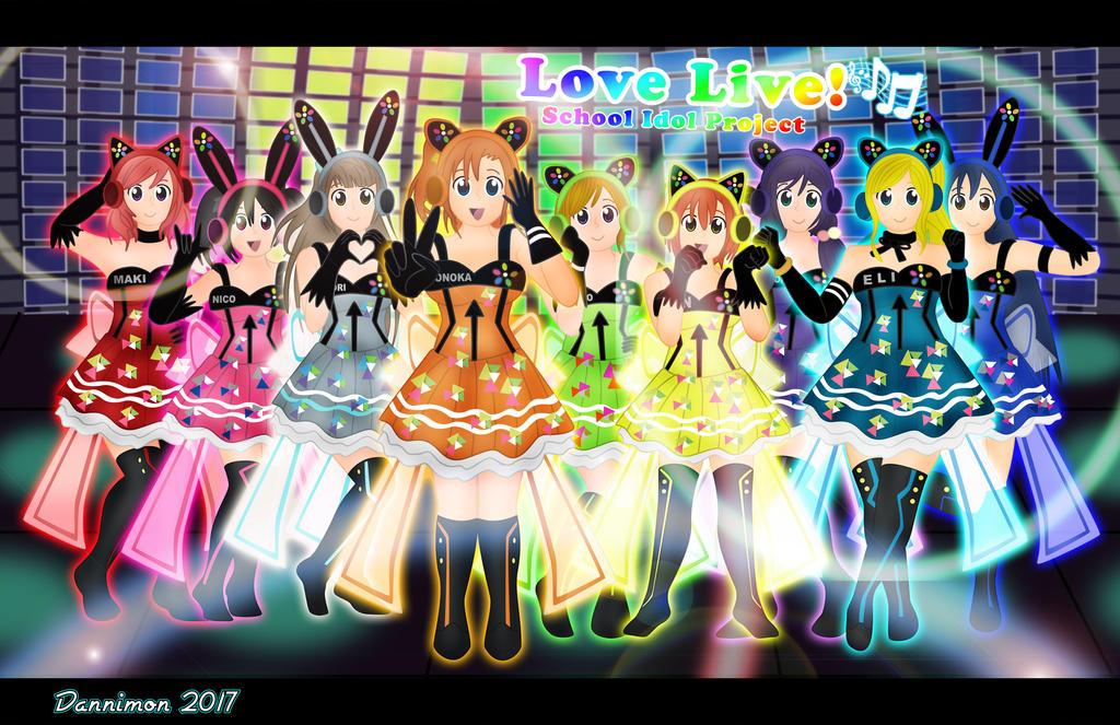 Love live cyber group by dannimondesigns on deviantart - Love live wallpaper 540x960 ...