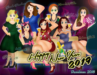 Digiworld New Years Eve by DannimonDesigns