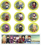Chibi Fate Stay Night Buttons and Bookmark by DannimonDesigns