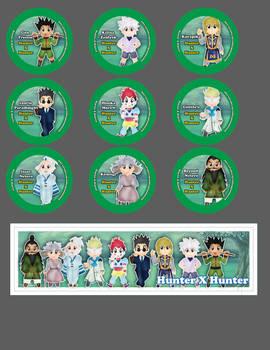 Chibi Hunter X Hunter Button and Bookmarks