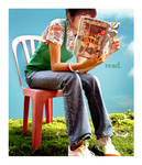 reading on a sunny day..
