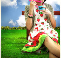 strawberry ice cream. by poop-art