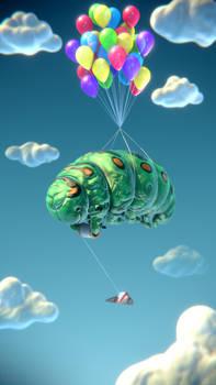 Caterpillar having Fun