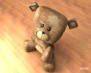 Sweat Square Bear by mox3d