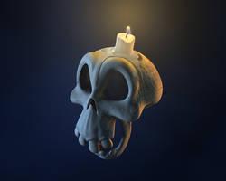 Skull 3d by mox3d