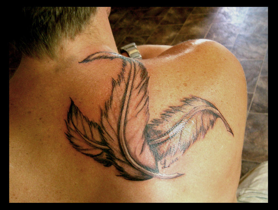 Feathers - shoulder tattoo