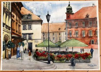 Old Town in Warsaw by ewadzik