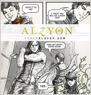 Alzyon Web Comic Intro Page