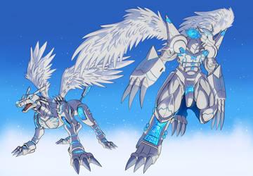 Merciful MetalGarurumon WarGreymon by Noki001