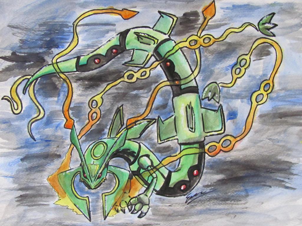 Mega Rayquaza by Emakura