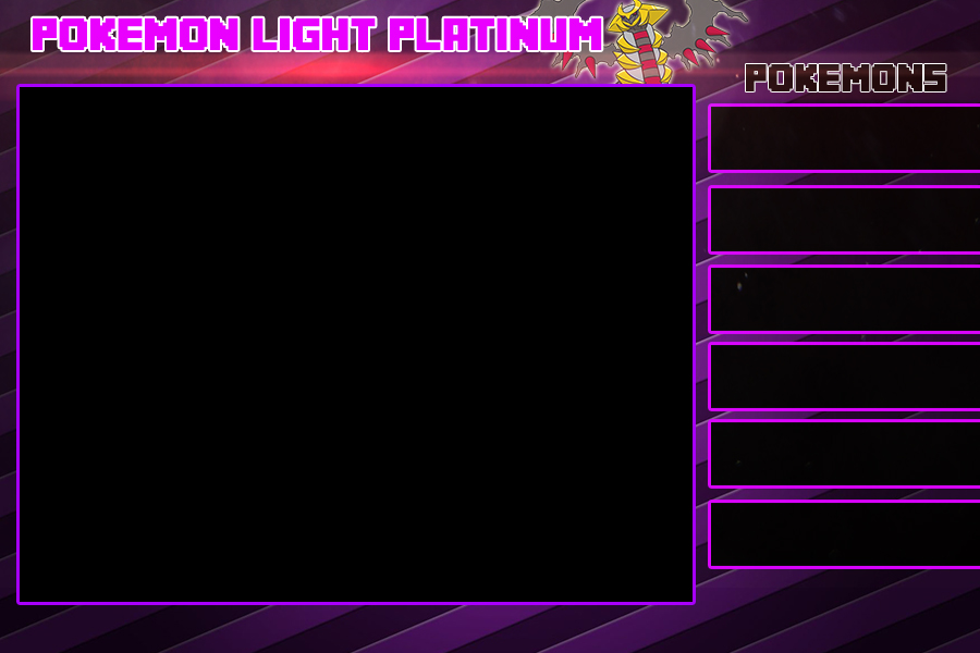 Pokemon Light Platinum Sidebars By Goldenrayquaza7 On Deviantart