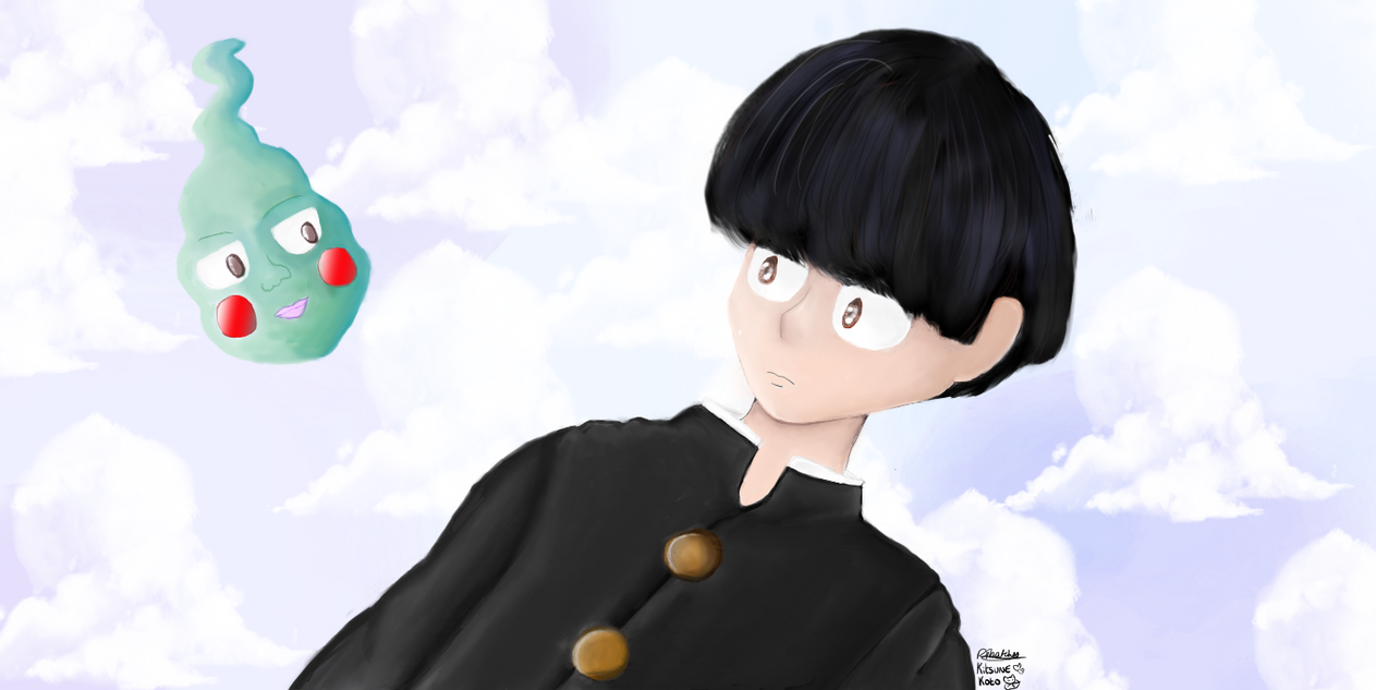 Mob psycho mob and dimple by kitsunekoto