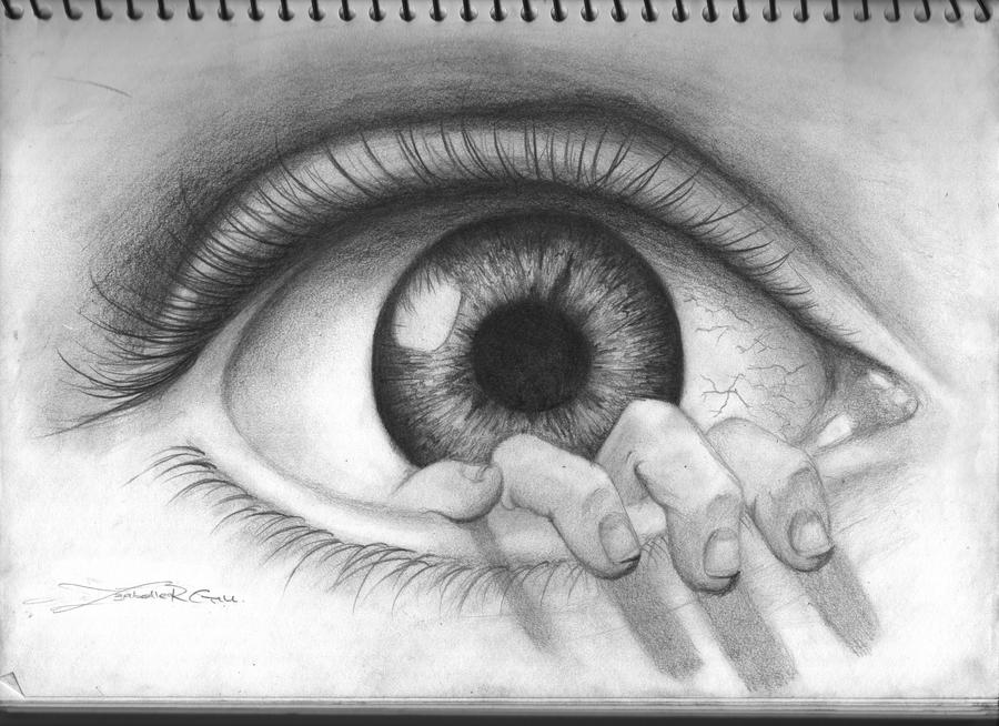 How to draw evil eye