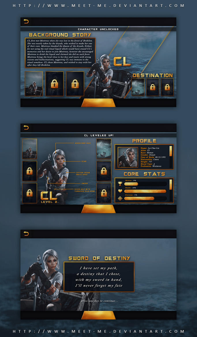Sword Of Destiny CL Game UI Design By MeetMe On - Game ui design